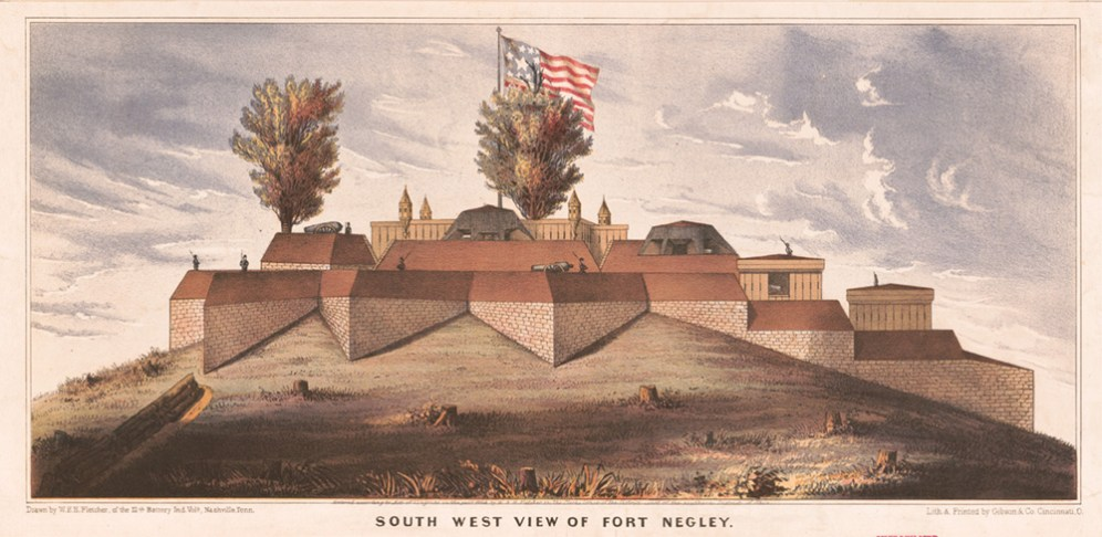 illustration of Fort Negley in 1862