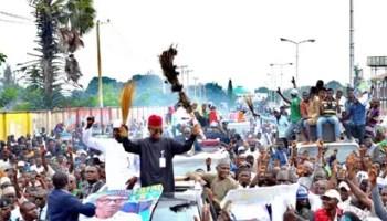 Image result for El-Rufai leads Buhari rally in Kaduna