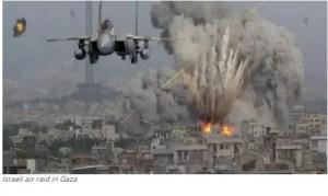 Israeli air raid in Gaza