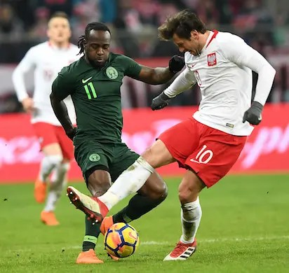 c4ab29d6d Nigeria Vs Poland: How Moses gave Nigeria surprise victory in Poland ...