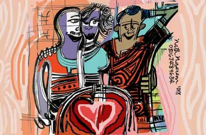 lovers, keys, secret, flat, husband