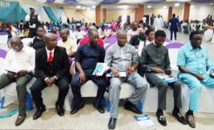 A cross section of members of YOWICAN, during the Southern Youth Peace and Security Summit, held in Owerri.