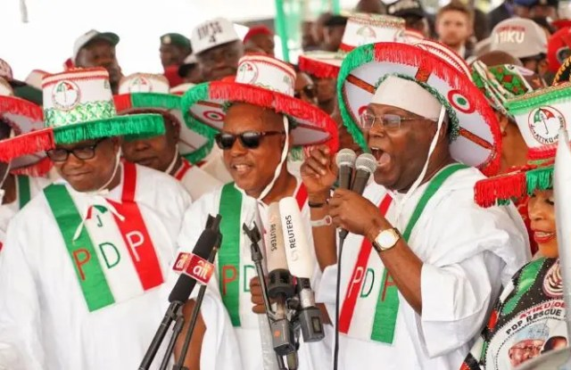 Image result for Stop beating the drums of war, FG warns PDP