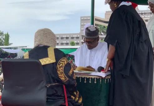 Buhari takes oath of office