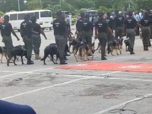 Police, railway stations