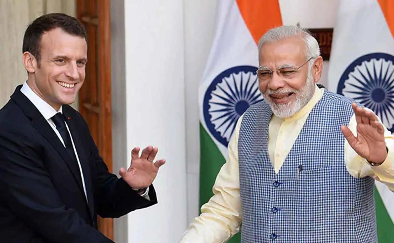 Macron to discuss Kashmir with Modi......