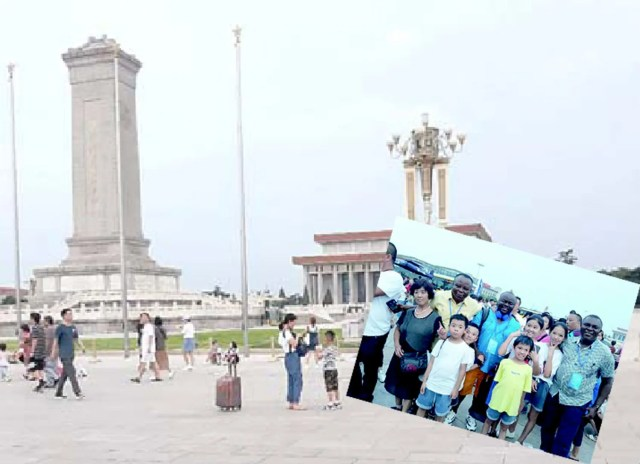 Mobbed at Tiananmen Square, stunned in China's Harbin, China
