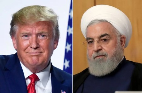 United States President, Donald Trump (L) and Iran President, Rouhani (R)