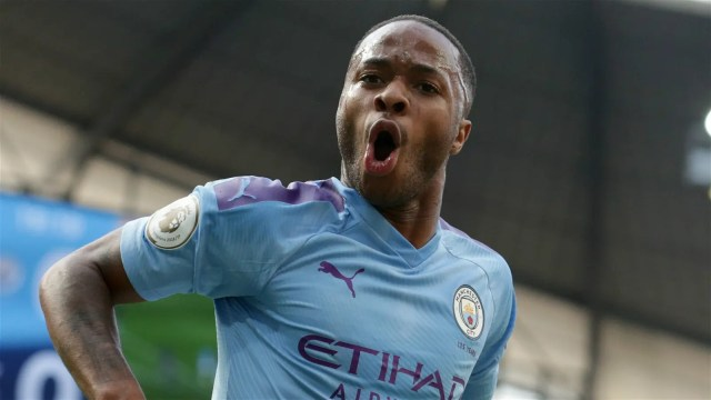Sterling  Sizzling Sterling bags hat-trick as Man City thump Atalanta #Nigeria Sterling 1