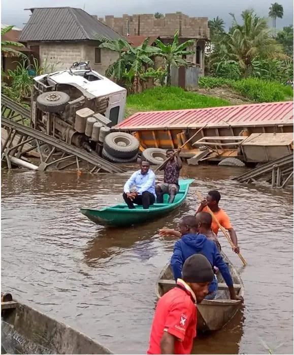 Bayelsa community raise alarm, as another bridge's going down