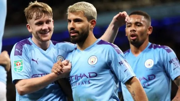 Aguero steers Man City through to Carabao Cup quarter-finals
