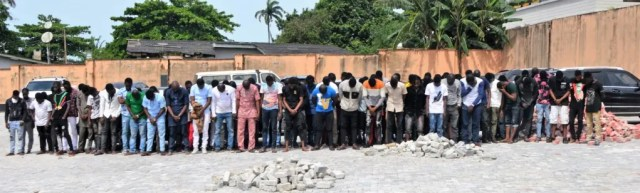 EFCC storms 'Yahoo-Boys' party in Osogbo, arrests 94 suspects