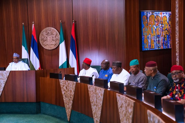 Photos: Buhari receives in audience South-East Governors