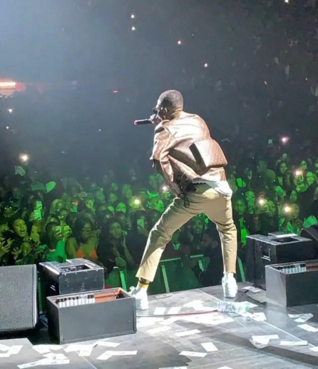 Wizkid rocks N2.3m Louis Vuitton jacket for O2 concert