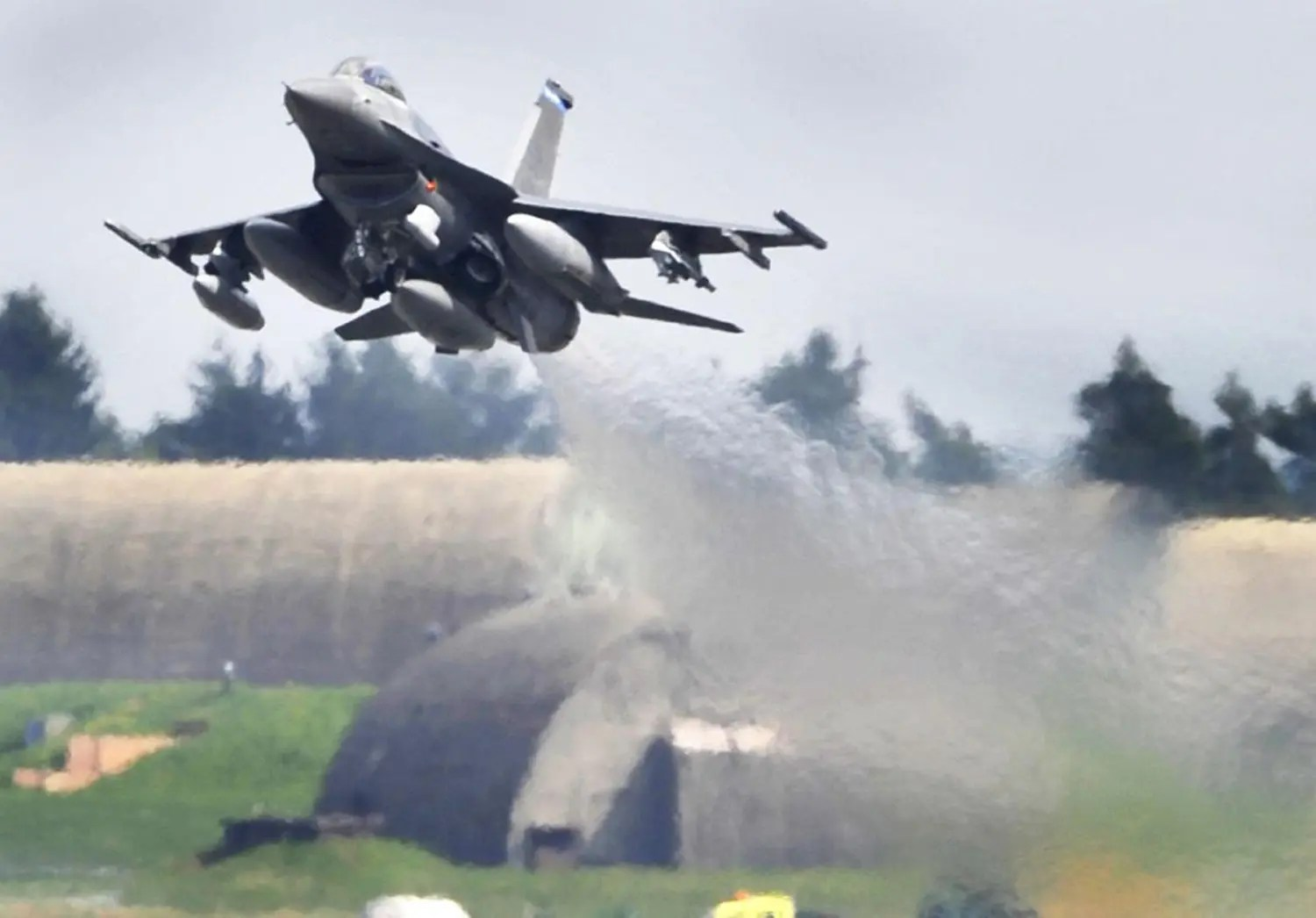 Air Force F-16 Crashes in Germany; Pilot Escapes with Minor Injuries