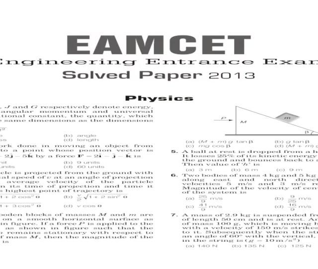 Eamcet Solved Paper  Pdf Document