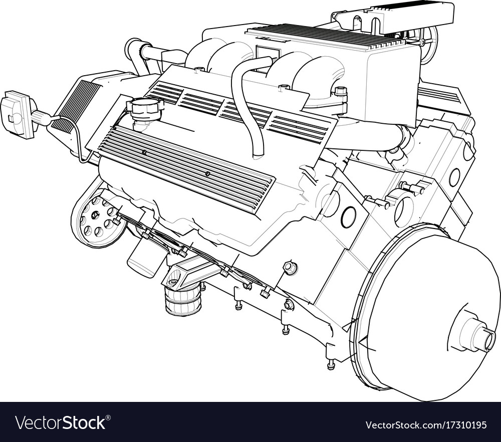 Amazing car engine drawing gallery simple wiring diagram images