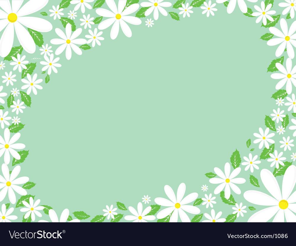 Daisy Border Royalty Free Vector Image