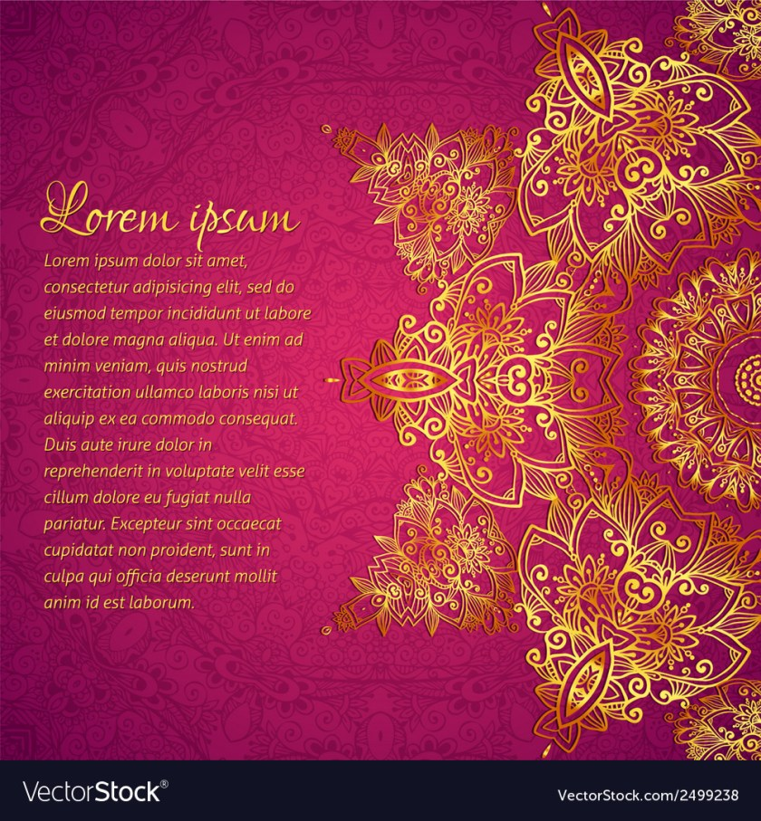Purple Ornate Vine Wedding Card Background Vector