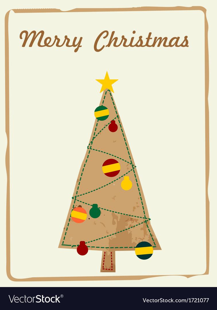 Christmas card, retro, vector