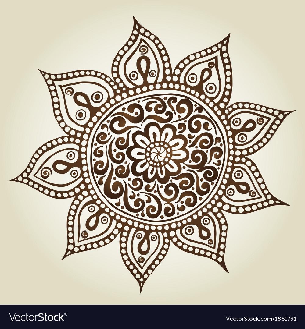 mandala round ornament pattern ornamental flowers vector by julia