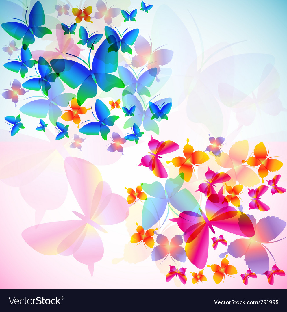 colorful butterfly background vector by borovkova image 791998