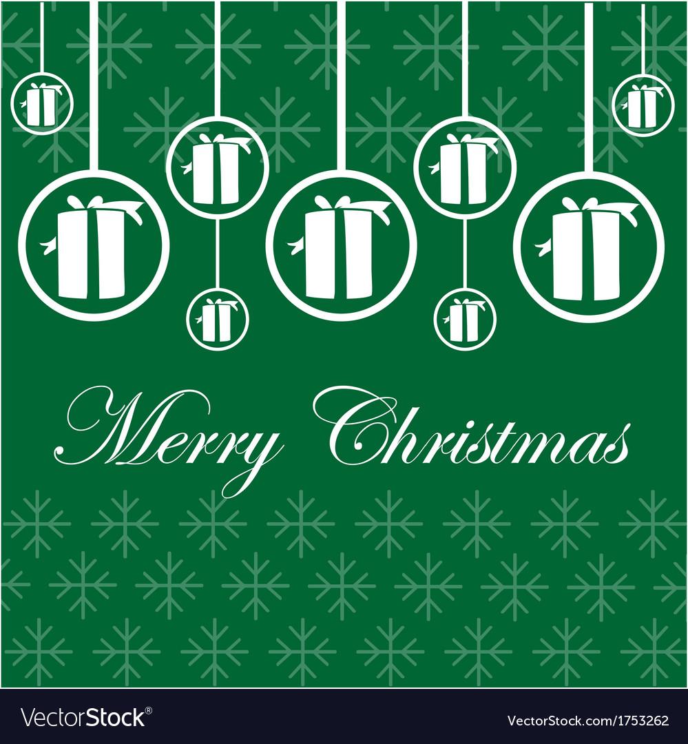 christmas card, vector, green, microstock