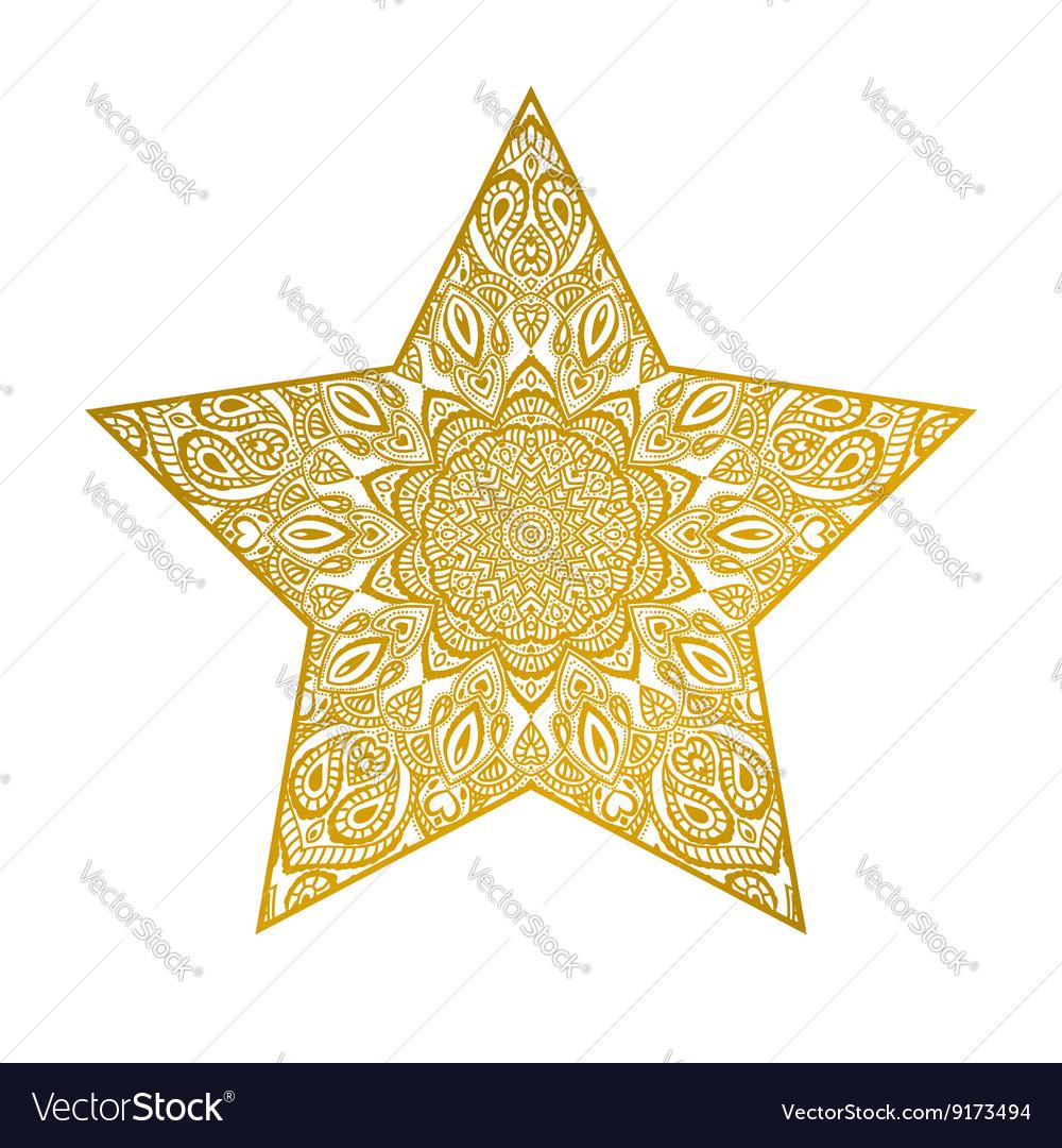 abstract star mandala ornate vector by irska image 9173494