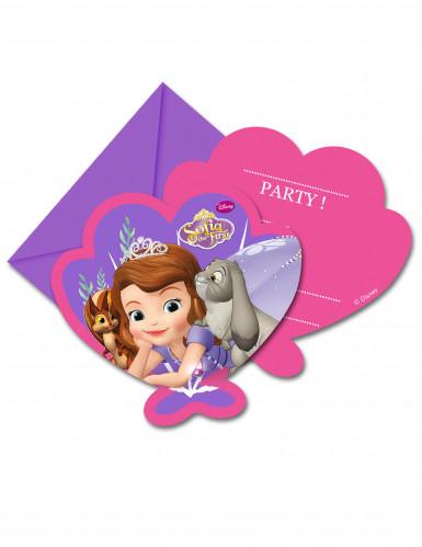 6 cartes d invitation avec enveloppes princesse sofia