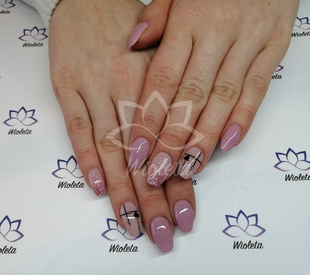Manicure Tytanowy Hybrydowy Zelowy Salon Wioleta Zywiec