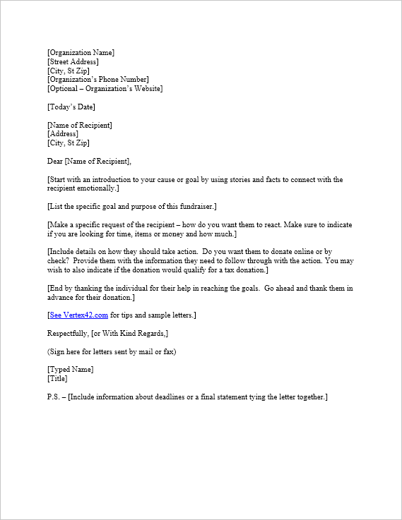 Free Request For Donation Letter Template Sample