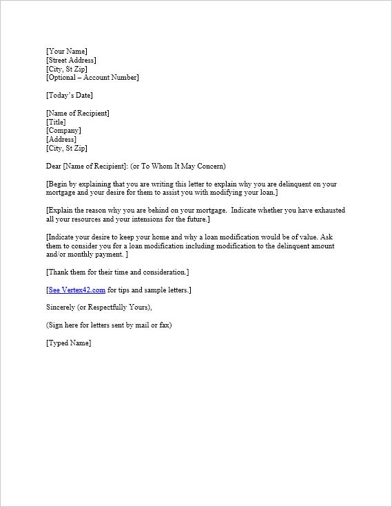 Free Hardship Letter Template Sample