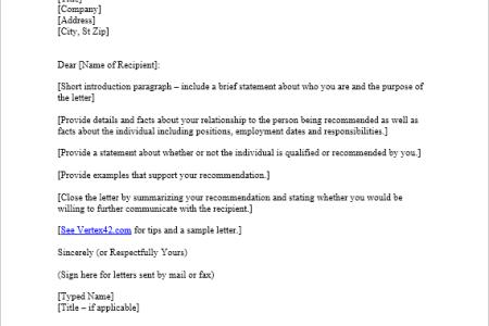 volunteer recommendation letter sample free professional resume
