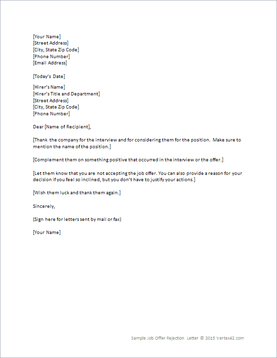 How To Write A Letter Reconsider Rejected Job Offer Sample