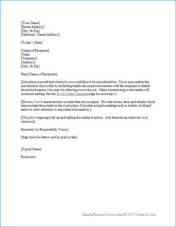 General Cover Letter For Resume Samples. Cover Letter For Resume