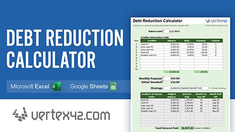 Debt Reduction Calculator Debt Snowball Calculator