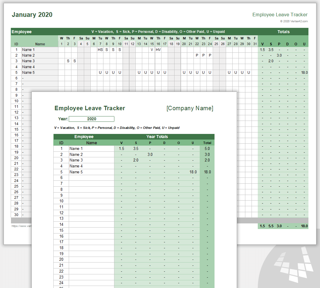 Employee Leave Tracker Template