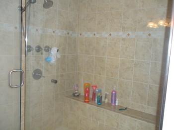 huge walk in shower
