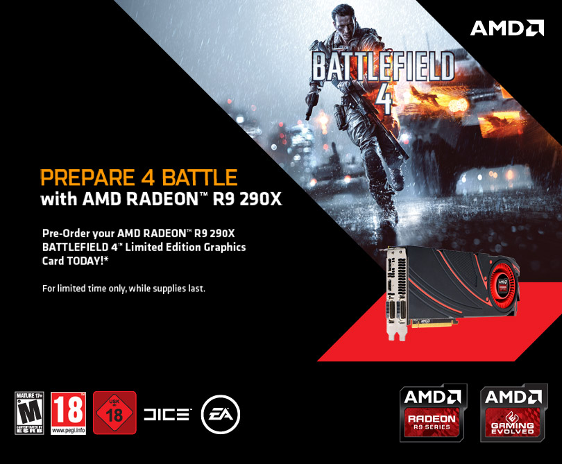 AMD Radeon R9 290X Final Specifications BF4 Bundle Available For Preorder