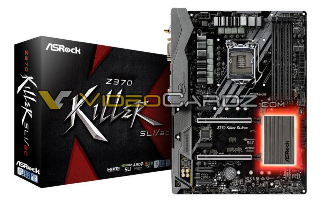 ASROCK Z370 KILLERSLI ASRocks army of the all new Z370 motherboards   LGA 1151 socket in full glory