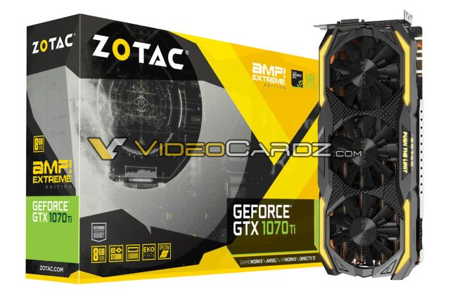 ZOTAC GTX1070TI AMP Extreme ZOTAC GeForce GTX 1070 Ti   The AMP Extreme and Non Extreme versions are a treat to watch