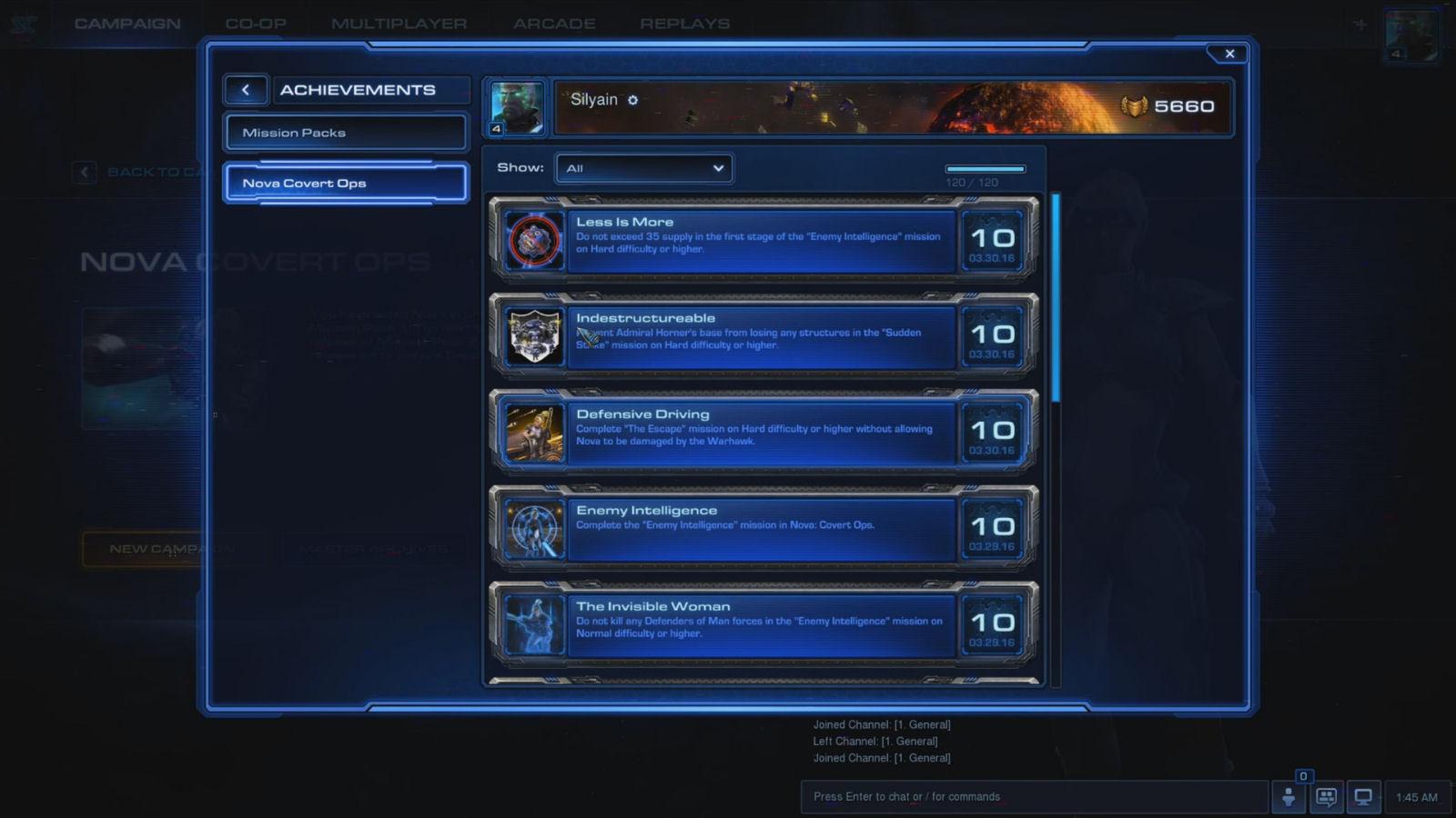StarCraft 2 Nova Covert Ops Achievements Guide