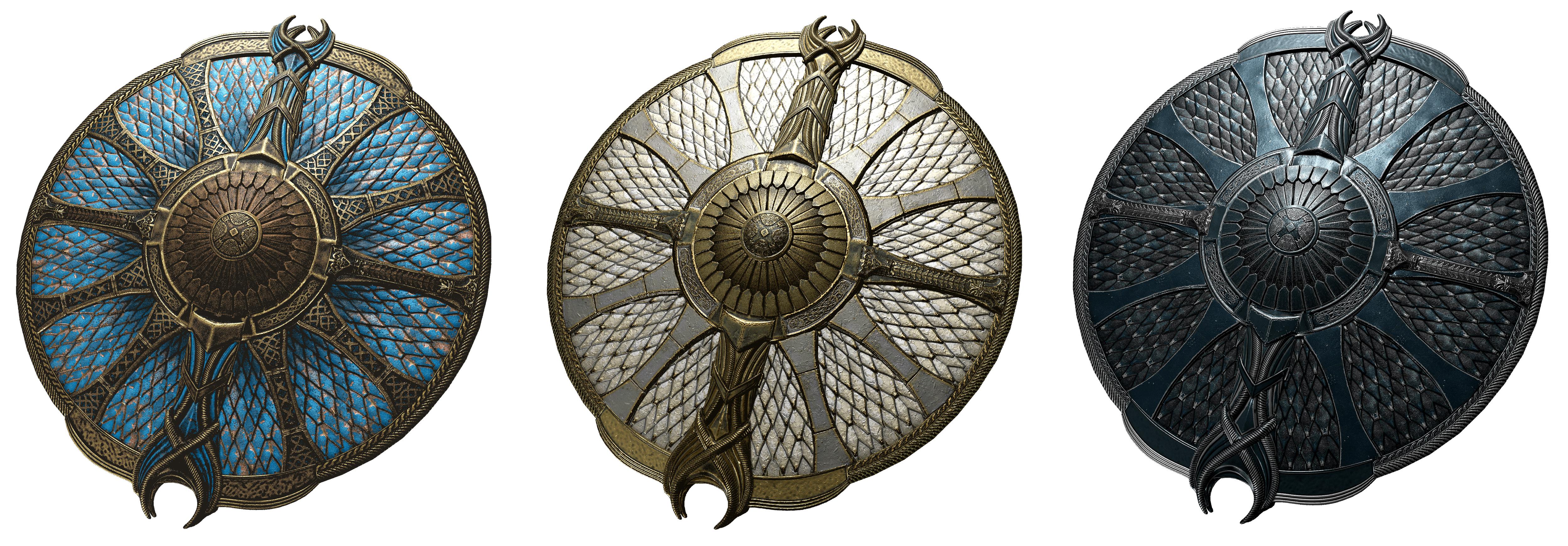 God Of War Shields Legendary Skins