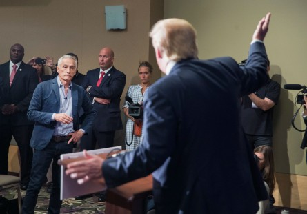 Trump throws Ramos out of the press conference. (Scott Olson/Getty Images File Photo)