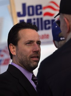 Miller, seen here speaking to supporters during the 2010 general election, initially had high hopes for Boehner and Ryan. (John Moore/Getty Images)