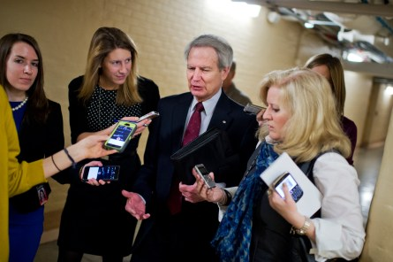 Jones, seen here after a House Republican Conference meeting earlier this year, injected himself into last week's leadership shakeup. (Tom Williams/CQ Roll Call File Photo)