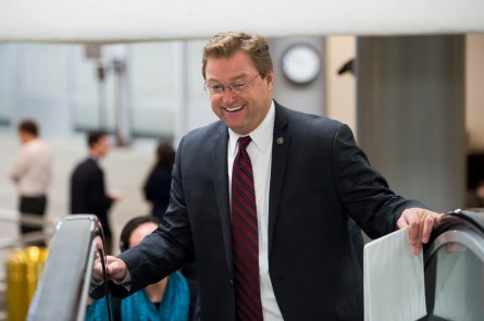 UNITED STATES - DECEMBER 9: Sen. Dean Heller, R-Nev., heads to the Senate floor for a vote on Wednesday, Dec. 9, 2015. (Photo By Bill Clark/CQ Roll Call)