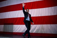 UNITED STATES - FEBRUARY 27: Presidential candidate Sen. Marco Rubio, R-Fla., leaves a campaign event near at Samford University in Birmingham, Ala., February 27, 2016. (Photo By Tom Williams/CQ Roll Call)