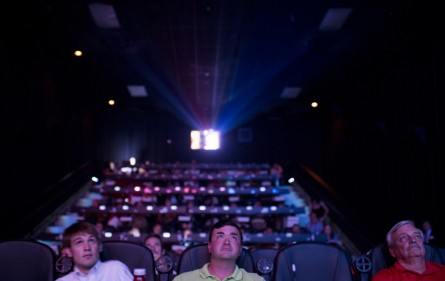 UNITED STATES - AUGUST 6: Charleston area Republicans watch the Republican primary debate at the Mount Pleasant Cinebarre theater during the Charleston County GOP debate watch party in Mount Pleasant, S.C., on Thursday, Aug. 6, 2015(Photo By Bill Clark/CQ Roll Call)