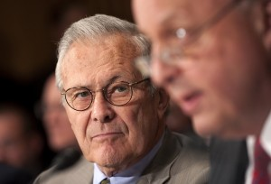 Former Defense Secretary Donald Rumsfeld is financially backing Wisconsin Sen. Ron Johnson for re-election. (Chris Maddaloni/CQ Roll Call file photo)